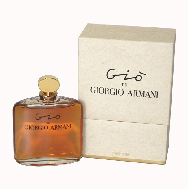 Gio Perfume by Giorgio Armani... very hard to find so I save it for special occasions.