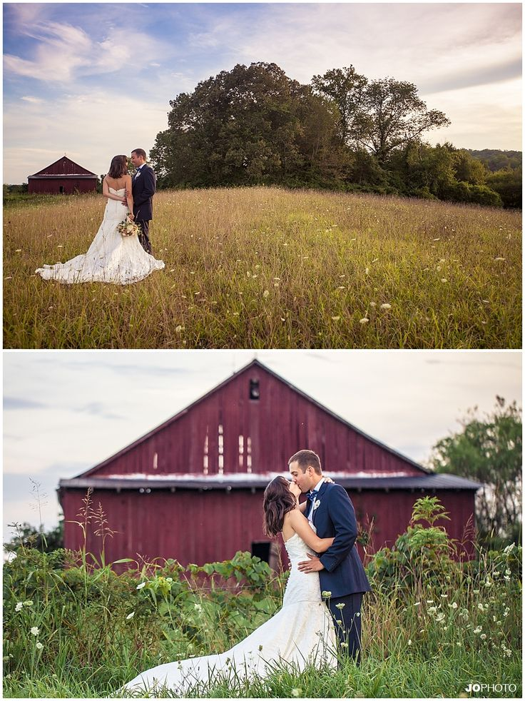 southern #wedding in front of a red barn   http://www.JoPhotoOnline.com