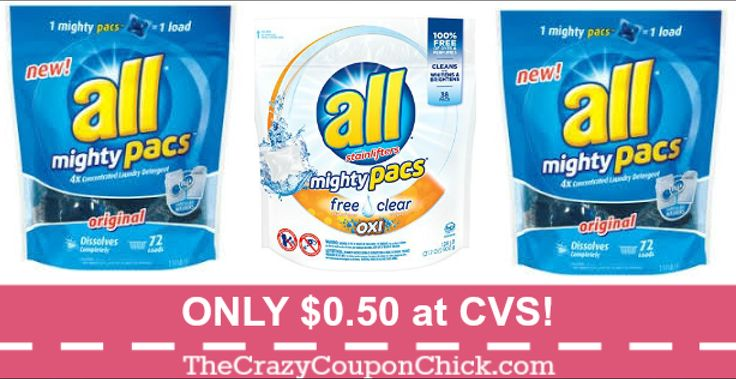 NEW Coupon! All Mighty Pacs Even CHEAPER! Now ONLY $0.50 at CVS + 2 FREE Palmolive!