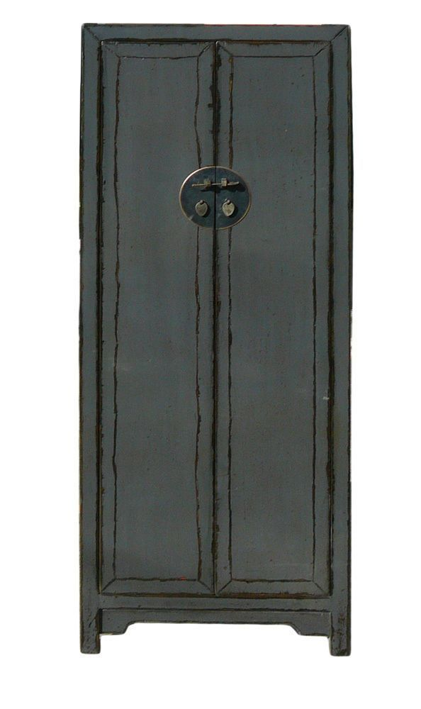 Chinese Distressed Rustic Gray Tall Narrow Storage Cabinet Cs1150 Handmade Asianori Tall Narrow Storage Cabinet Outdoor Storage Cabinet Tool Storage Cabinets
