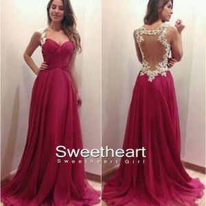 Sweetheart Girl | A-line Sweetheart Red Chiffon Long Prom Dresses, Evening Dresses | Online Store Powered by Storenvy