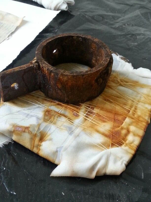 Rust dyeing with Alice Fox
