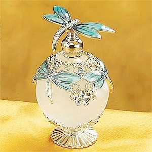 Sky Blue Dragonfly Perfume Bottle - Enchanted Garden Gift Shop - Home Decor - Perfume Bottles