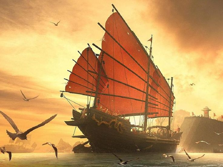 Ships, Sailing ships and Chinese on Pinterest
