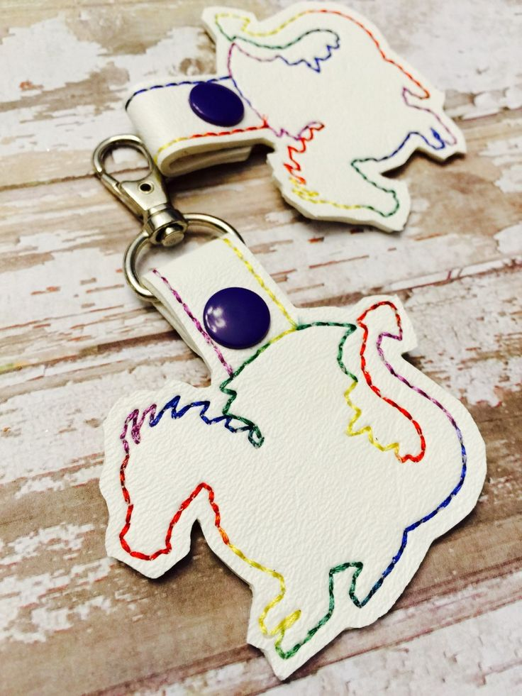 New to babymoon on Etsy: Rainbow dragon keyring - dragon keyfob  - backpack dangle - dragon gift - stocking stuffers - gifts under 10 - best gifts for teens (8.99 USD)