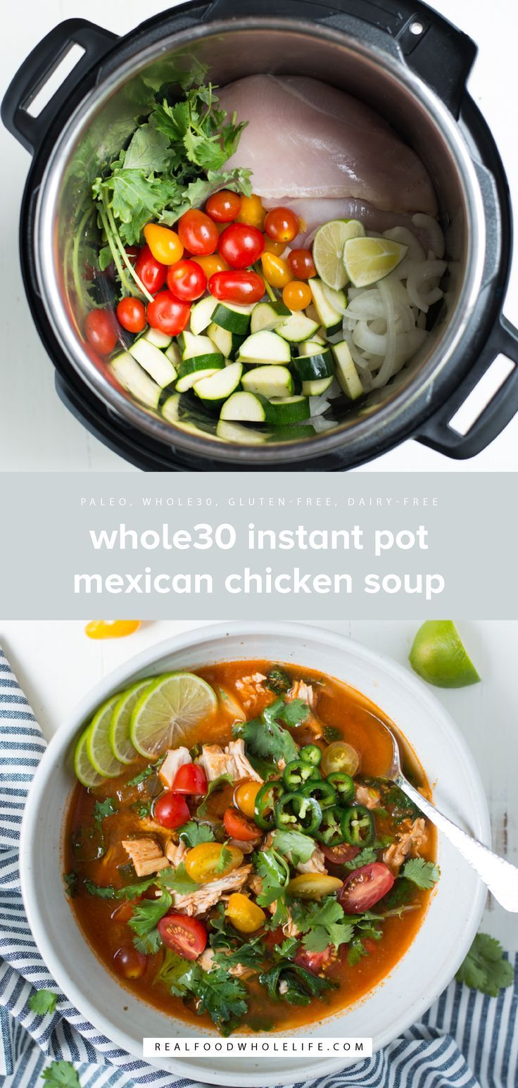Instant Pot Loaded Mexican Chicken Soup