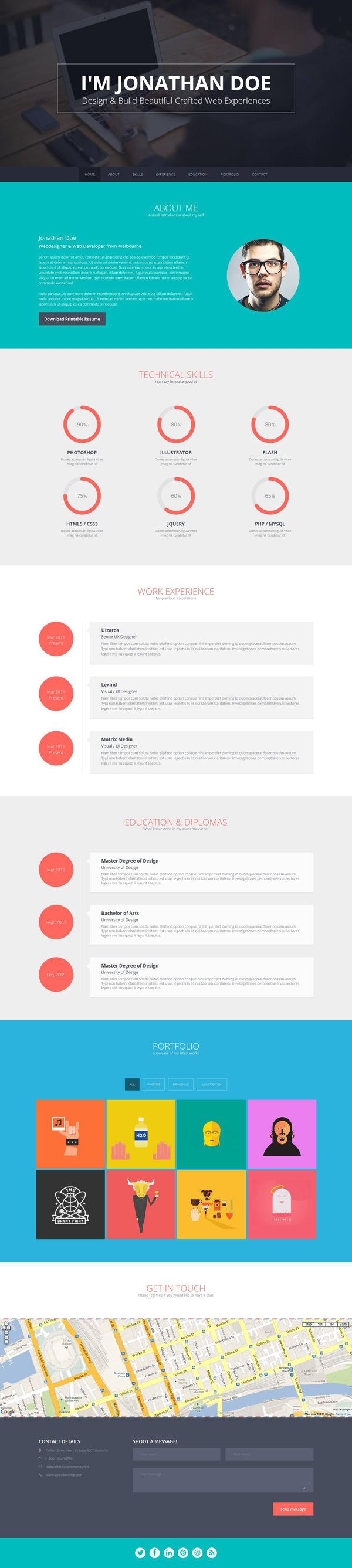 17 best ideas about web developer cv web portfolio flato responsive online cv resume templates