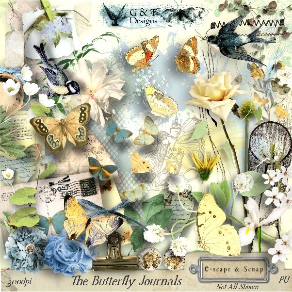 G & T DESIGNS THE BUTTERFLY JOURNALS KIT