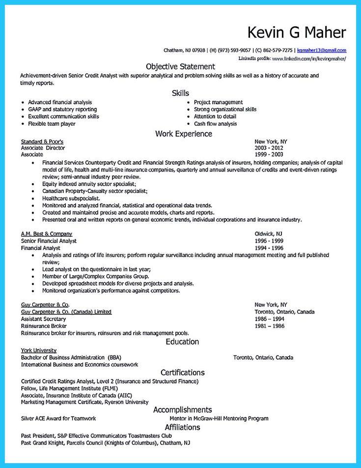 Credit Analyst Resume Sample Nice Cool Credit Analyst Resume