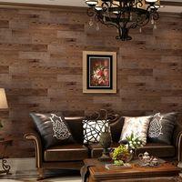 Placa de madeira retro acabamento americano puro papel papel de parede sofá fundo papel de parede papel de parede