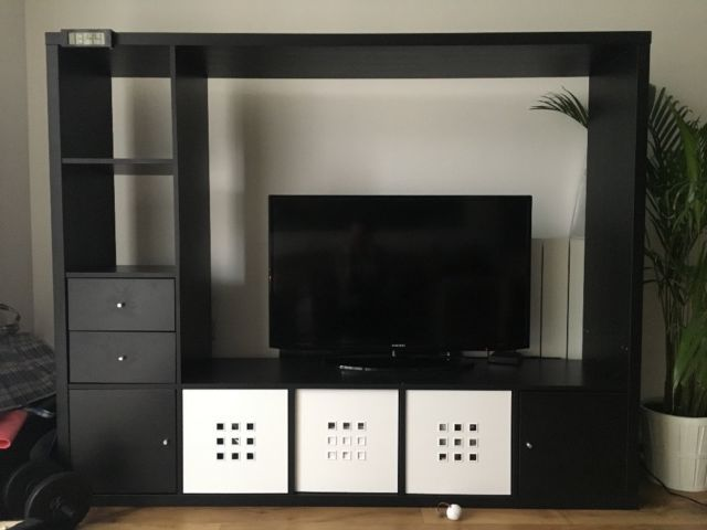 Ikea Black TV Storage Unit LAPPLAND