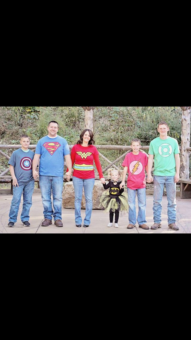 Superhero family picture....2013 Christmas cards????