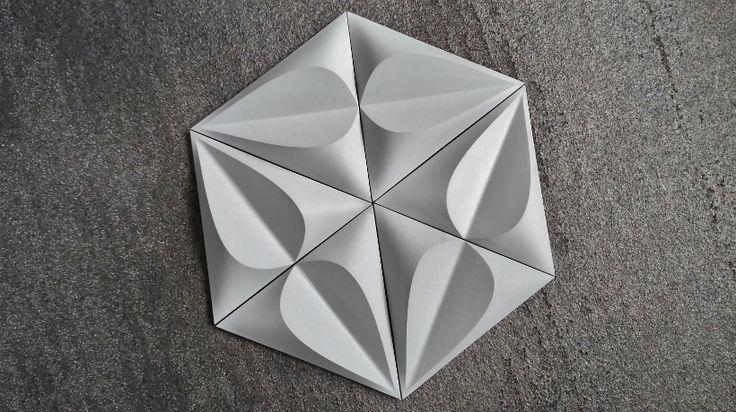 SEED Contemporary Concrete Tile by Gillian Blease for KAZA Concrete.