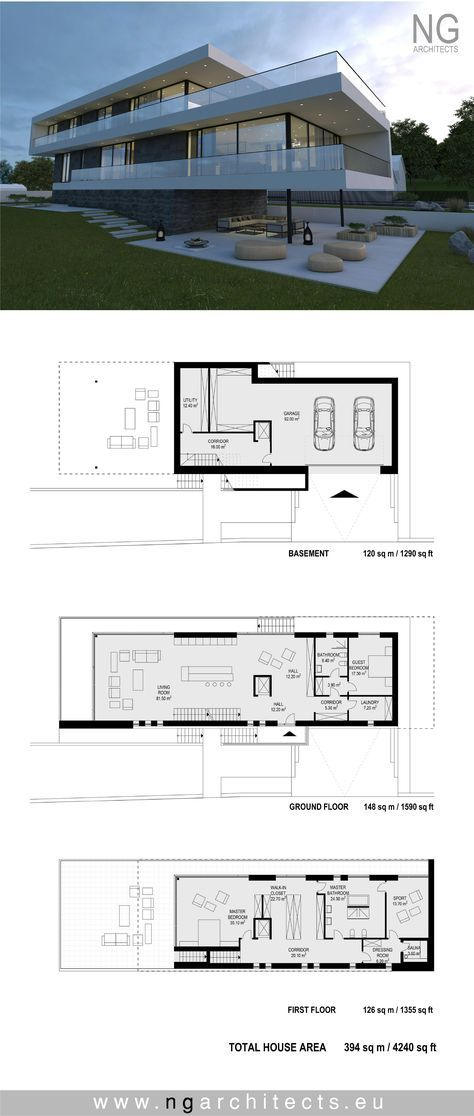 modern house plan Villa G by NG architects