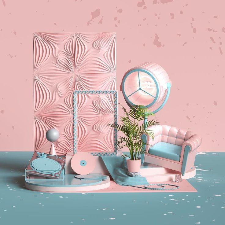 Coverartwork for a LA electronic music duo- LOUDPVCK #loudpvck #morethanicantake #electronic #edm #cover #music #artwork #art #cgi #c4d #cinema4d #3d #render #octane #pink #set #design #illustration #adobe #photoshop #digitalart #inspiration #instart
