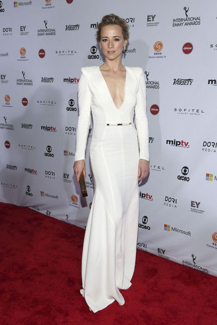 karine vanasse in a breathtaking white gown