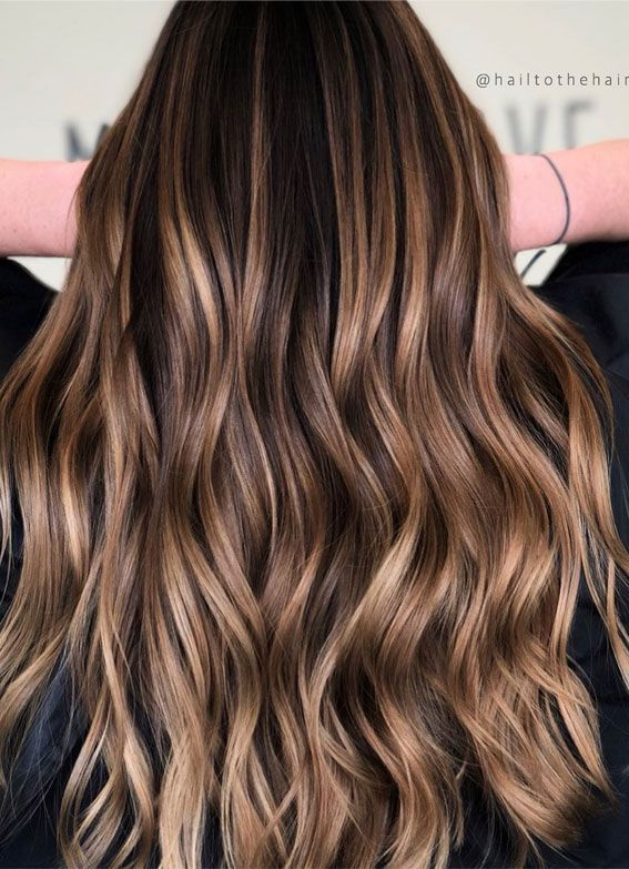 44 The Best Hair Color Ideas For Brunettes Delicious Chocolate Blends In 2020 Brunette Hair Color Brown Hair Balayage Long Hair Color