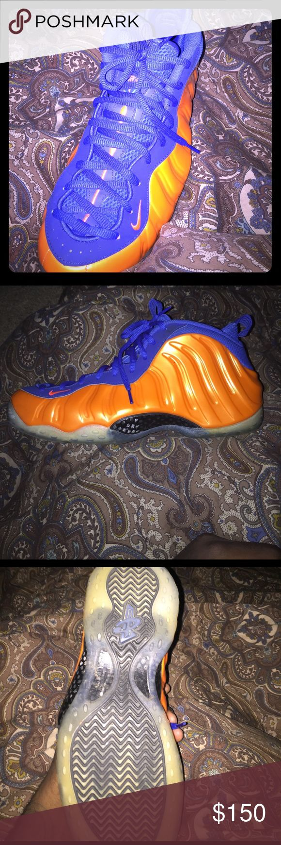 New York Knicks Nike foamposite Never wore them good price compared to everyone else. Nike Shoes Sneakers