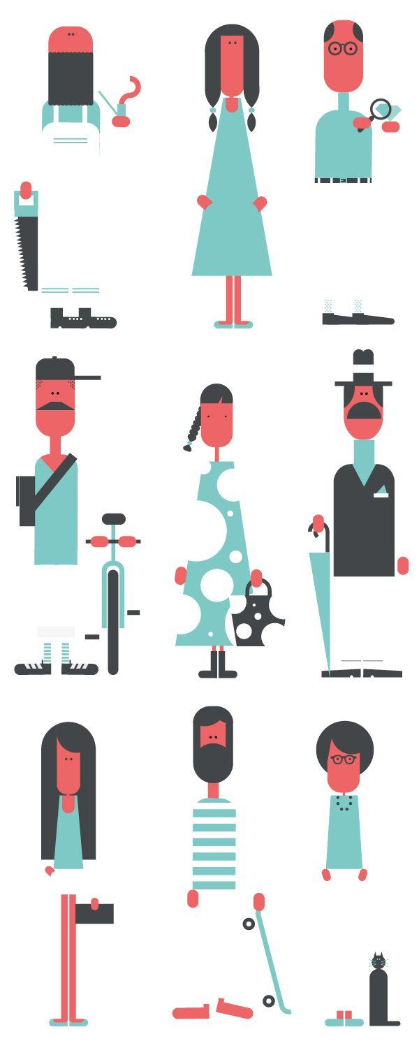 From character to type. From caos to shape. by Jonathan Calugi, via Behance #character