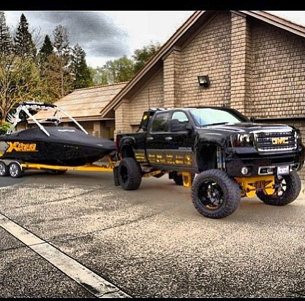 Follow us to see more badass lifted, diesel or gas trucks. Cummins, Duramax or Powestroke -we love all! So, bring on the big Chevy, GMC, Ram, Dodge, Ford or Jeep trucks. I like to see them in the mud, on the dragstrip, or just cruising the street.