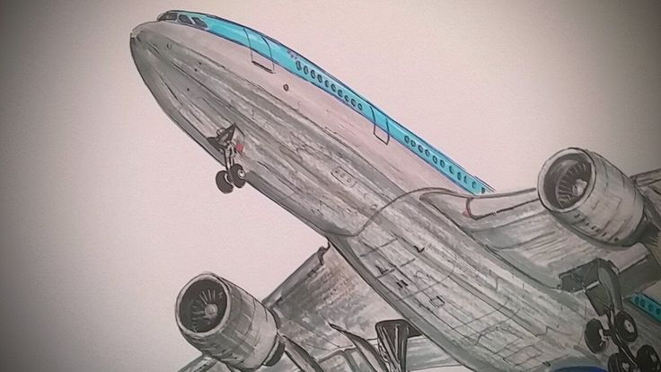 KLM, AIRBUS A 330-200, Drawing timelapse