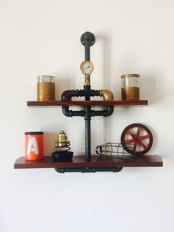 Mensola/Scaffale stile Industriale Vintage di MaxCreationsItaly