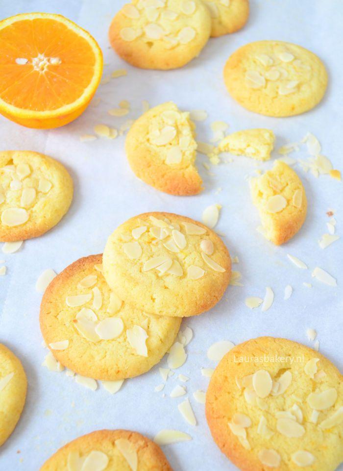 orange almond cookies - sinaasappel amandel koekjes - Laura's Bakery
