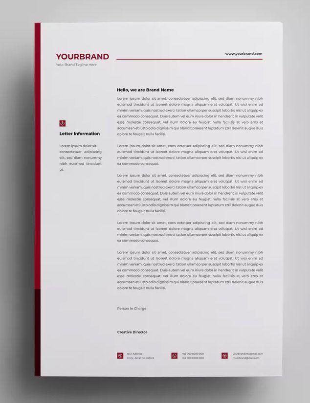Letterhead Design Templates 13 By Surotype On Letterhead Design