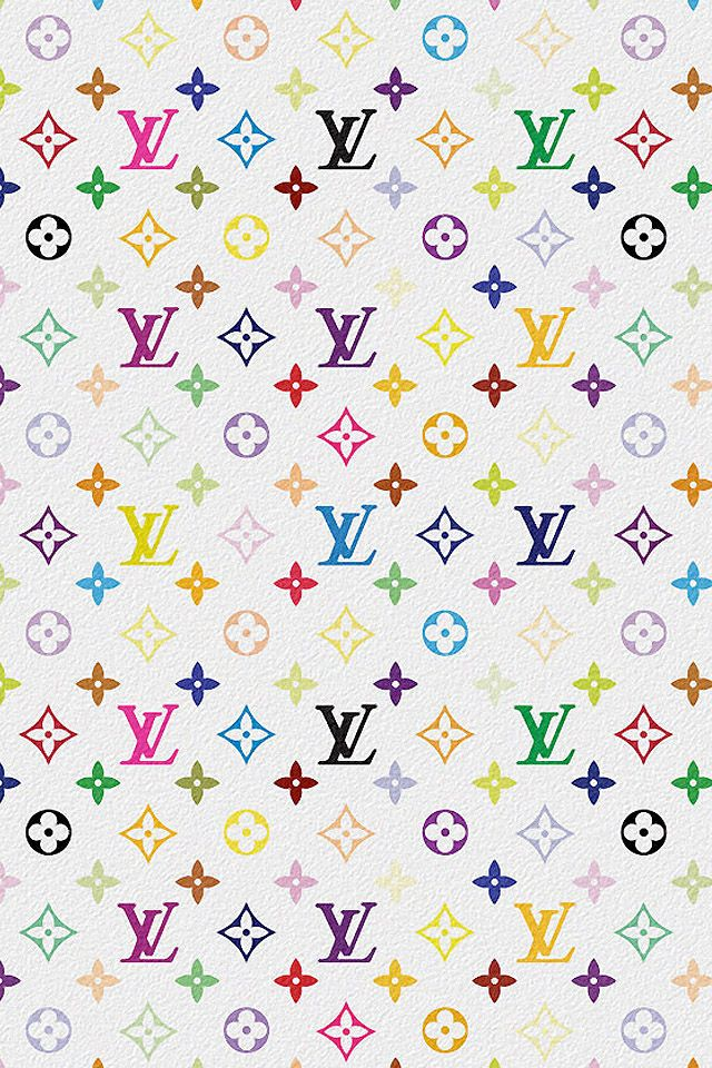 Download Louis Vuitton Multicolor iPhone wallpaper