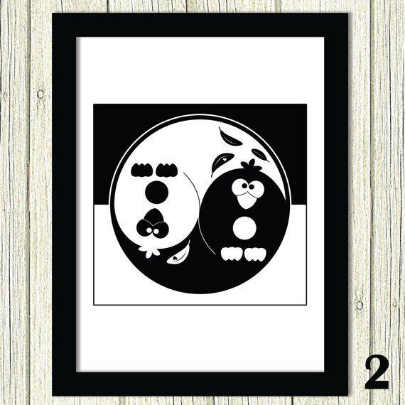 50% OFF SALE Yin Yang Custom Art Funny Yin Yang by HappyHouseNo1
