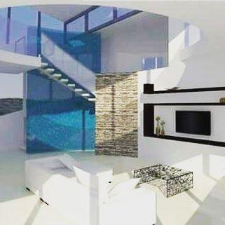 #interierdesign #interior #interierovydesign #livingroom #obyvacka #modern #white #stairs #architects #architecturelovers #familyhouse