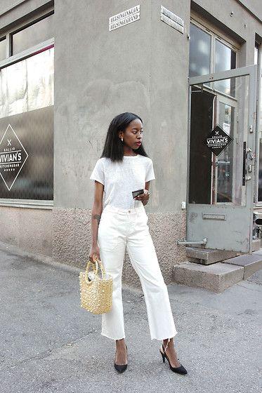 More looks by Sylvie Mus: http://lb.nu/sylviemus #chic #minimal #street #denim #basket