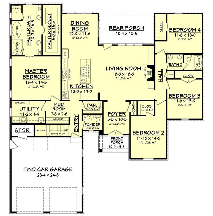 Get the house plan you want to build the home of your dreams! The Chalmette Court House features a 3 bedroom house plan with bonus room. Shop online today.