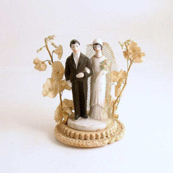 Art Deco Style Cake Topper : 341 best Vintage Wedding Cake Toppers images on Pinterest