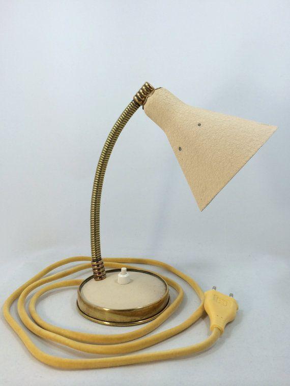 Small and cute Midcentury bedside / table lamp by Lambater on Etsy, €80.00