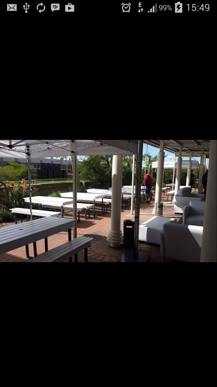 Our Table and Benches being used at Ibhayi Brewery (SAB) for the first time
