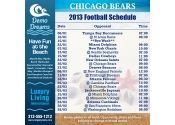 5x5 in One Team Chicago Bears Football Schedule