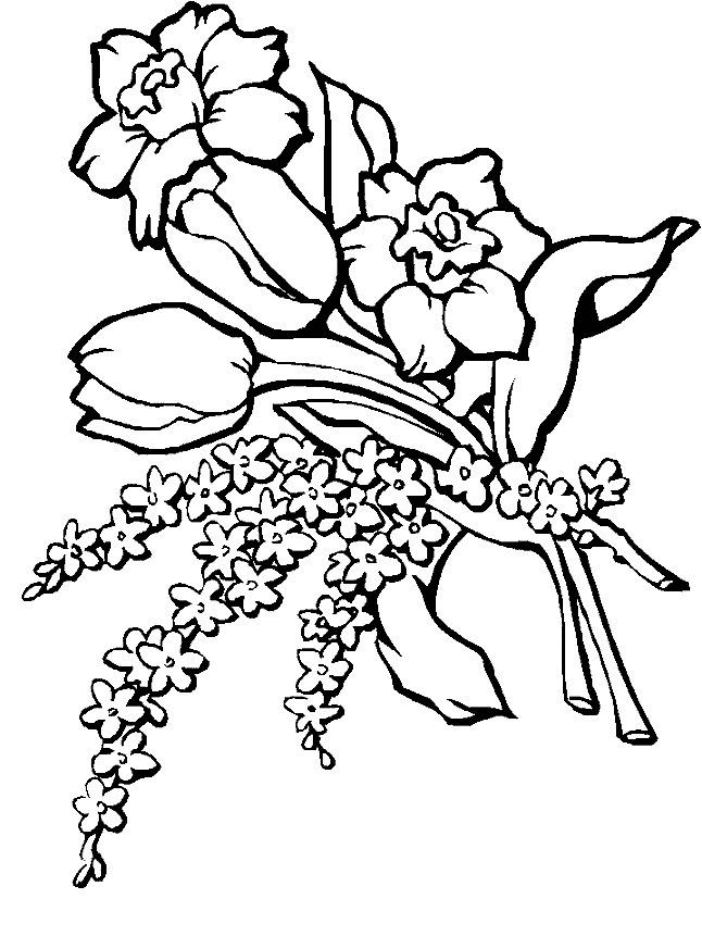 realistic flowers coloring page for kids and adults from cartoons coloring pages realistic flowers coloring pages