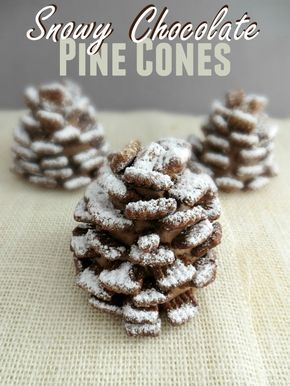 TheseSnowy Chocolate Pine Cones are a fun treat for any holiday or winter themed party. They are pretty quick and easy to put to put together but delicious too! SNOWY CHOCOLATE PINE CONES Yields: 6 servings | Time: 25 minutes  Ingredients: 3 cups Chocolate Fiber One Cereal (can also use Chex Chocolate Cereal) 6 …