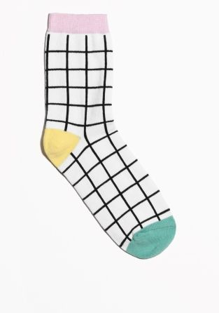 & OTHER STORIES Playful jacquard-knitted socks with a colourful grid design.