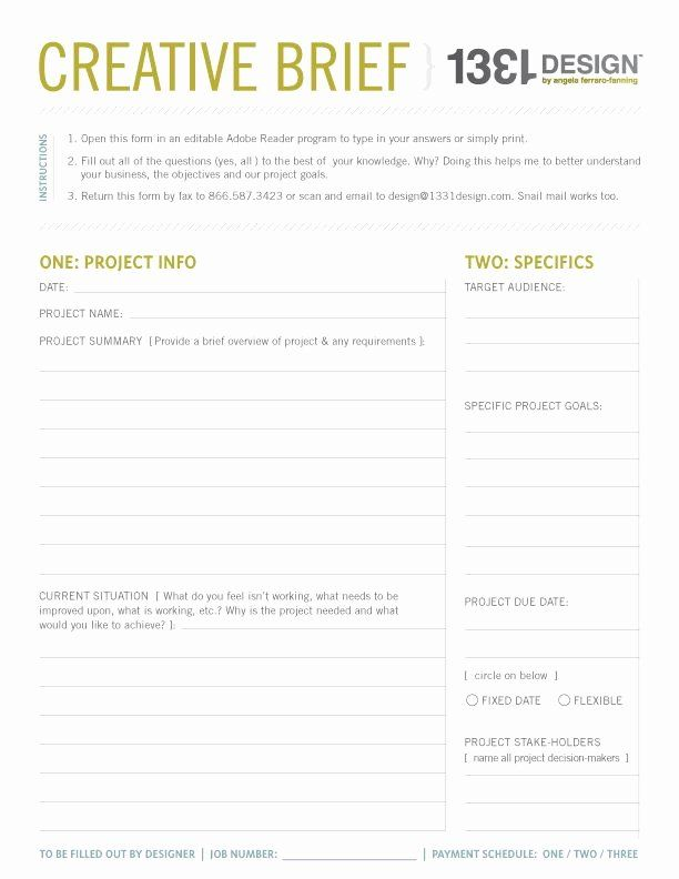 Marketing Project Request Form Template Best Of My Creative