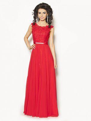 Czerwona elegancka sukienka Model:IP-2085A