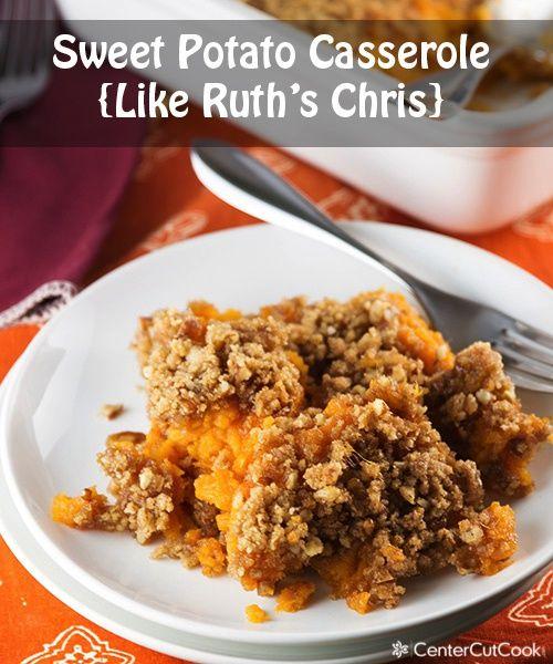 Sweet Potato Casserole {Like Ruth's Chris} #thanksgiving #sweetpotatoes #recipe