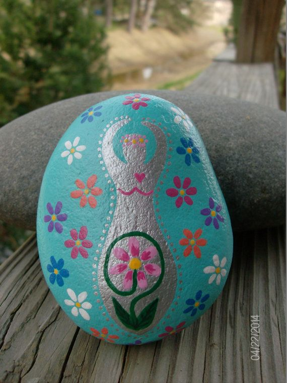 Beltane/May Day Flower Goddess Altar Stone by TheSimplifiedWitch, $10.00