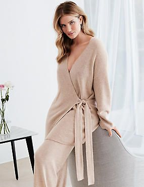 590b63a1e0 Pure Cashmere Long Sleeve Dressing Gown