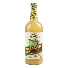 Tres Agaves Blanco Margarita made with organic lime juice, organic agave nectar and pure, filtered water, this blend offers a balance of sweet and sour tastes. It is under 70 calories per serving. Tres Agaves Blanco Margarita Kit