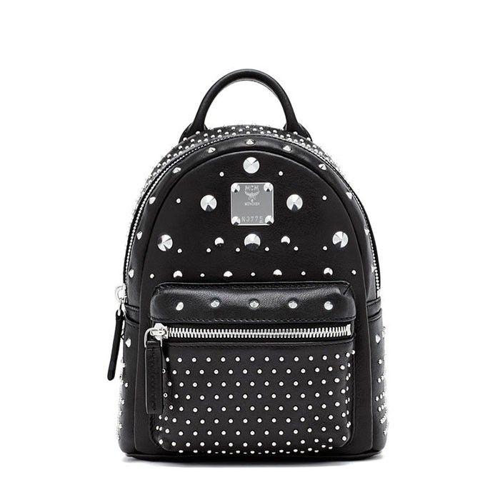 MCM X-Mini Stark Special Studded Backpack In Black