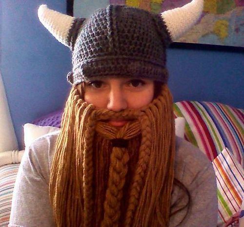 Viking and beard.: Hats Patterns, Vikings Beards, Halloween Costumes, Free Crochet, Crochet Hats, Crochet Vikings, Crochet Patterns, Beards Patterns, Crochet Beards