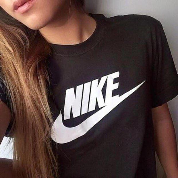 Women Fashion NIKE Print T-Shirt Top Tee