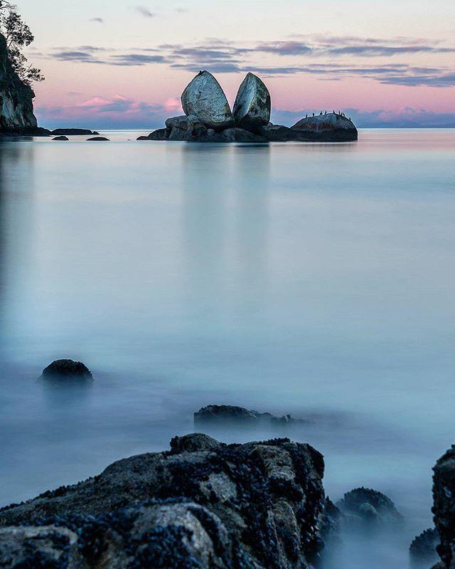 Split Apple Rock, Able Tasman track, New Zealand